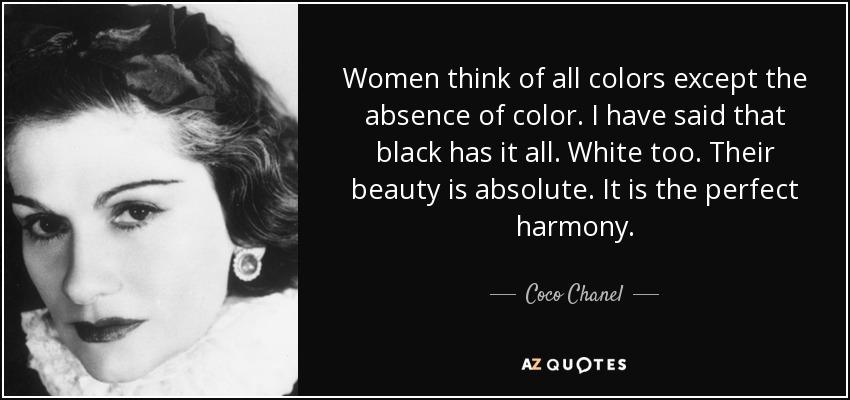 Coco Chanel Quote Frase De Coco Chane Elizabeth Cárdenas
